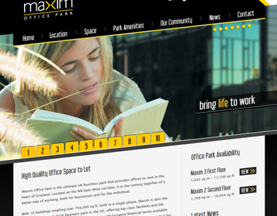 Maxim Office Park Website Concept