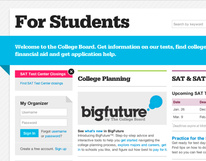 Student Landing Page