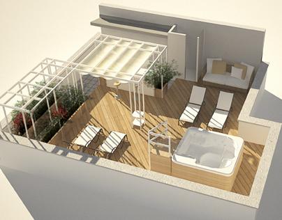 progetto di ristrutturazione e arredo terrazzo on behance
