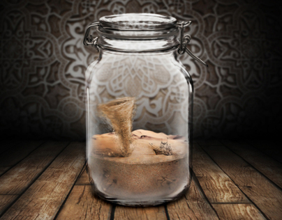 Story in a jar.