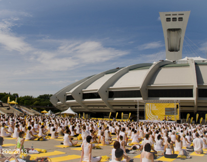 The Lolë White Yoga event @ Olympic Park