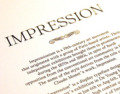 Typeface Design: Impression 印象体