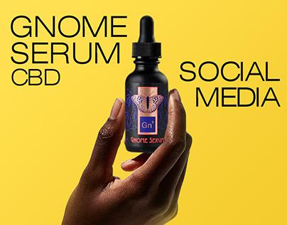 Gnome Serum CBD - Social Media