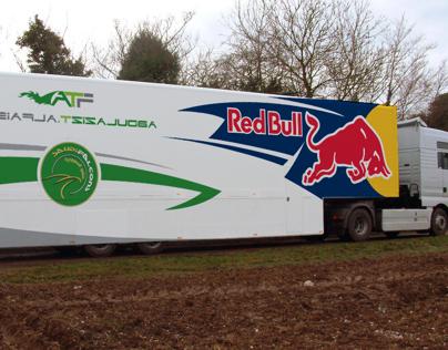 RedBull and Radical KSA Truck Branding