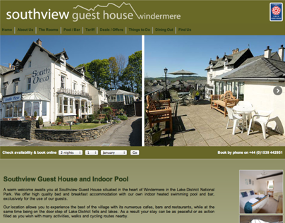 Southview Guesthouse Windermere website