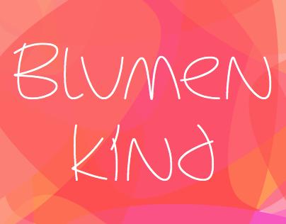 Blumenkind — a bright utopian script font