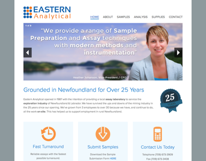 Website Re-design for Eastern Analytical