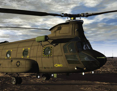 3D model of Chinook Helicopter