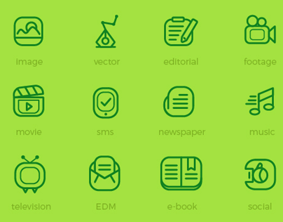 Freebie: 20 media flat outline icons