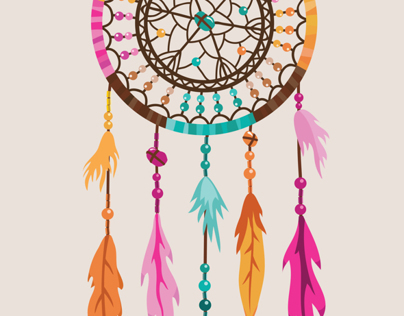 Vector Dream Catcher illustration.