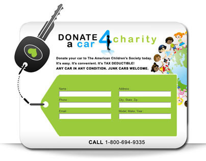 Donate a Car 4 Charity on Behance