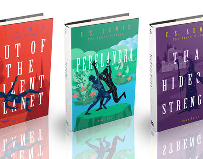 """The Space Trilogy"" by C.S. Lewis / Book Re-Covers"