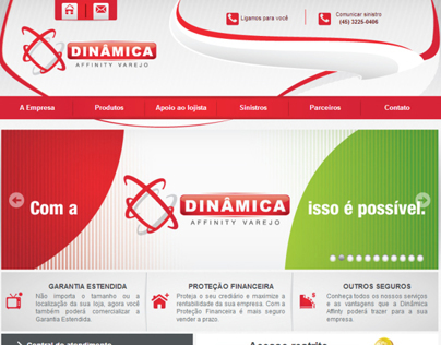 Design web site of the insurer Dynamic Affinity