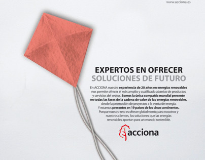 New Logo for Acciona (Spanish)