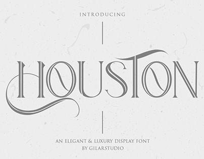 Houston - An Elegant & Luxury Display Font