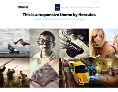 Hercules - Portfolio & Business WordPress Theme