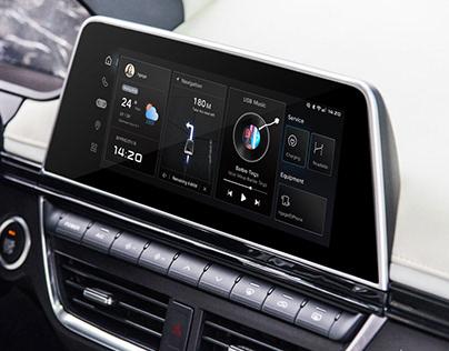 汽车中控HMI设计