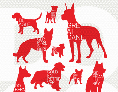 Silk screened DOG posters
