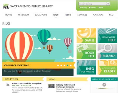 Sacramento Public Library Website Redesign