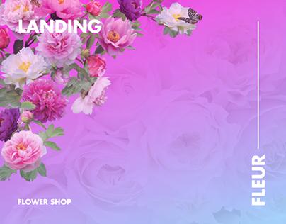 Fleur. Flower shop Landing page