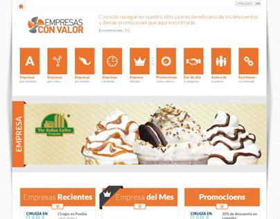 Sitio web - Empresas con Valor