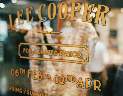 Lee Cooper — Pop Up Shop SS 2013