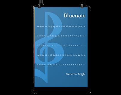 Bluenote typeface
