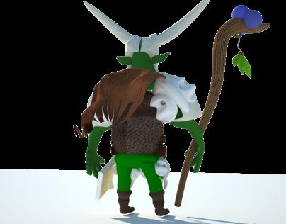 3D character design - Warlock