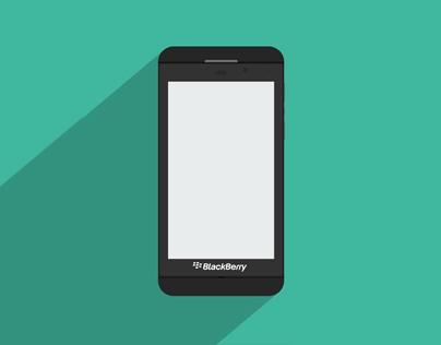 Free PSD: BlackBerry Z10 Flat Mockup