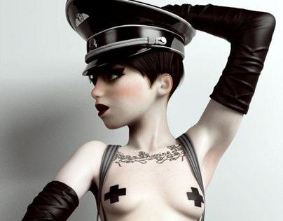 "Mistress Lili in ""The Night Porter"" (tribute)"