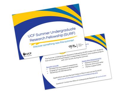 UCF Summer Undergraduate Research Fellowship