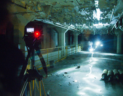 CODA production stills - Day 4 in the abandoned mill