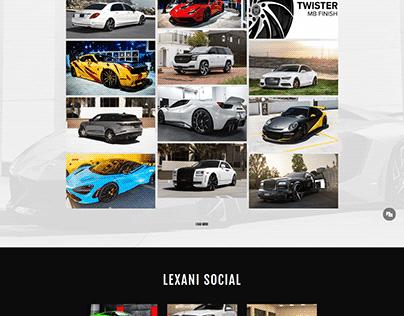 Lexani Car Shopping Web Site