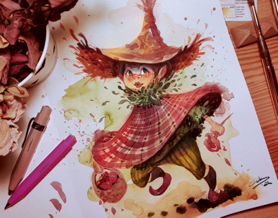 characters with watercolors