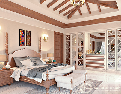 Photo Realistic Interior Visualization of a Bedroom