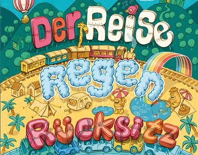 Cover illustration for child riddle block