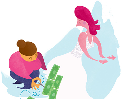 Wedded Bliss For A Price/ Editorial Illustration