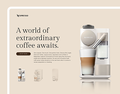 Nespresso Website Redesign