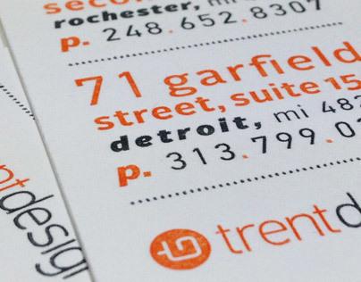 Trent Design Logo & Business Card