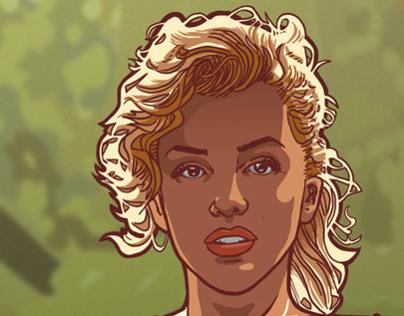 Marilyn in Mucha