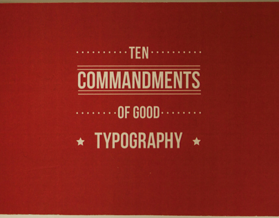 10 Commandments of Good Typography