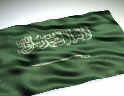 3D Saudi Flag