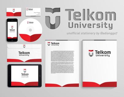 Telkom University - Stationery & Homepage Design