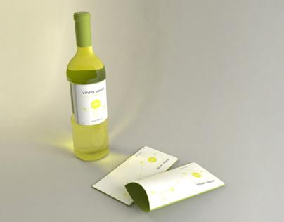 Vinho Verde, Compilation of bottle and cup (concept)