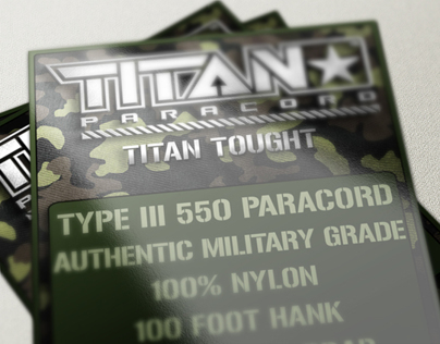 Titan™ Paracord Package Design