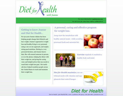 Webpage - Diet for Health (with Joanne)