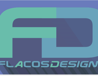 Flacos Designs Logo (flat w/shadow design)