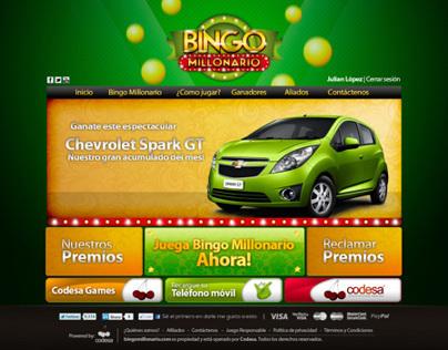 Bingo Millonario | Aplicación responsive design