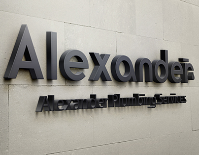 Alexander Plumbing Services Logo Concepts