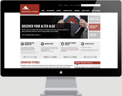 Advantage Futures Website Redesign
